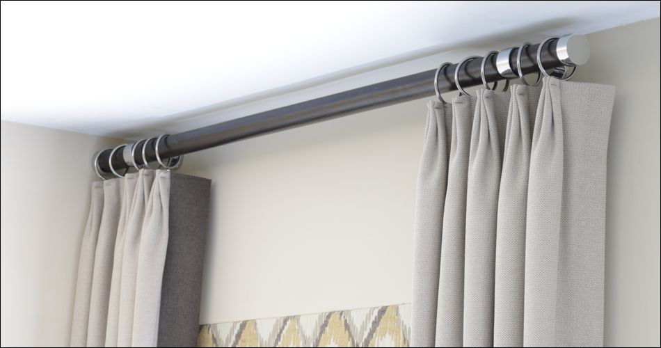 wood pole curtain rod